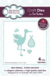 CED10024 - Creative Expressions Craft Dies by Sue Wilson - New Arrival - Stork and Baby